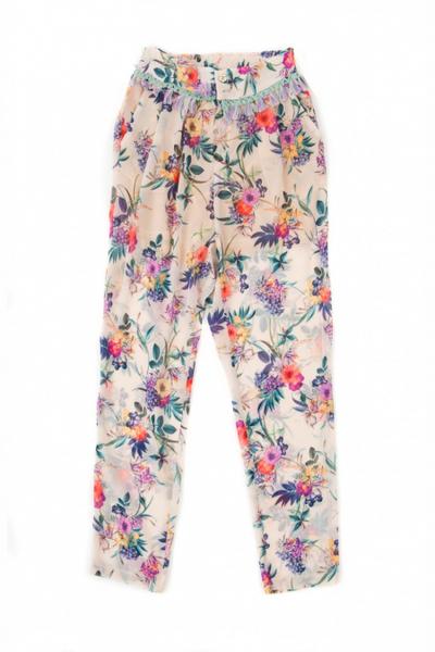 Pantalón EL ARMARIO DE LÚLU estampado floral Jardín