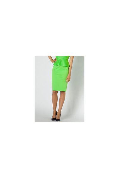 Falda PATRIZIA PEPE tecno verde