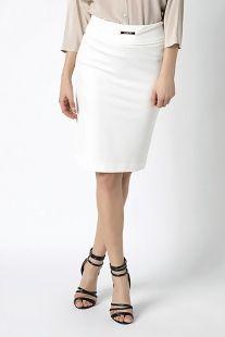 Falda PATRIZIA PEPE blanca midi