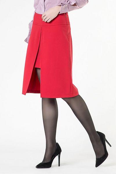 Falda PATRIZIA PEPE corta-larga roja