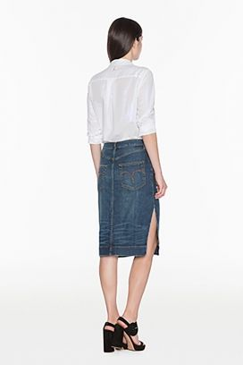 Falda denim strech