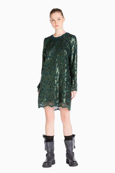 Vestido TWIN-SET encaje-lentejuelas