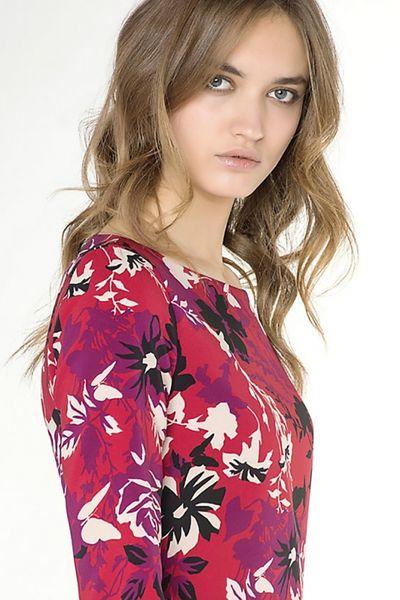 Vestido PATRIZIA PEPE Flores Rojo