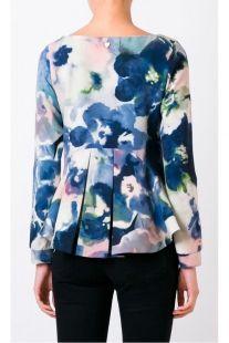 Blusa TWIN-SET estampado floral efecto acuarela