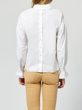 Blusa INTROPIA blanca cuello mao