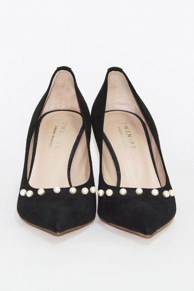 Salón TWIN-SET negro con perlas