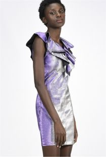 Vestido PINKO corto de purpurina superelástico