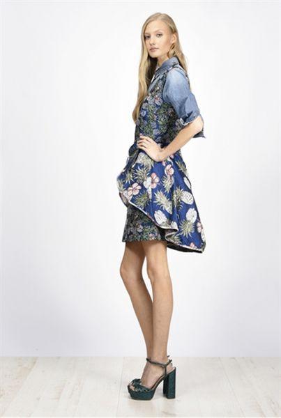 Vestido PINKO Corto de lurex con fantasía de piñás