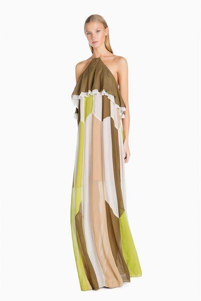 Vestido TWIN-SETlargo color block
