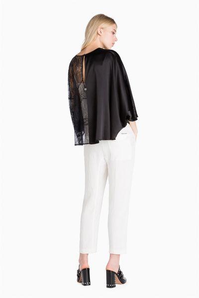Blusa TWIN-SET de encaje y seda