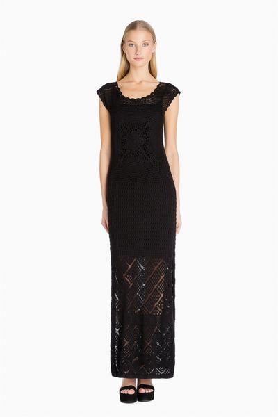 Vestido TWIN-SET Largo Crochet