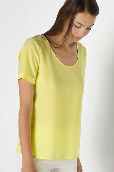 Blusa PATRIZIA PEPE seda amarilla
