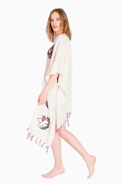 Poncho con flor TWIN-SET