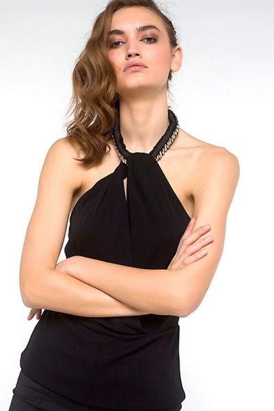 Top PATRIZIA PEPE con efecto de collar