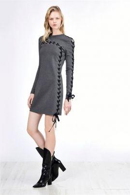 Vestido manga larga PINKO de punto Roma