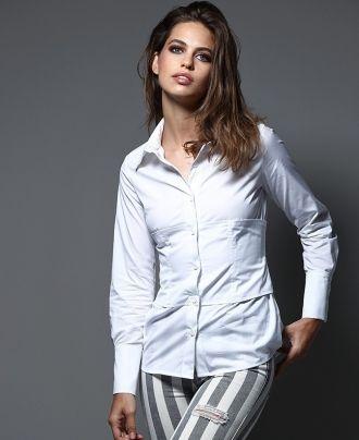 Camisa Imiloa corset white rodas