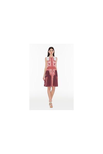 b83082ae94 Vestido TWIN-SET estampado rojo - Pilar Olmo