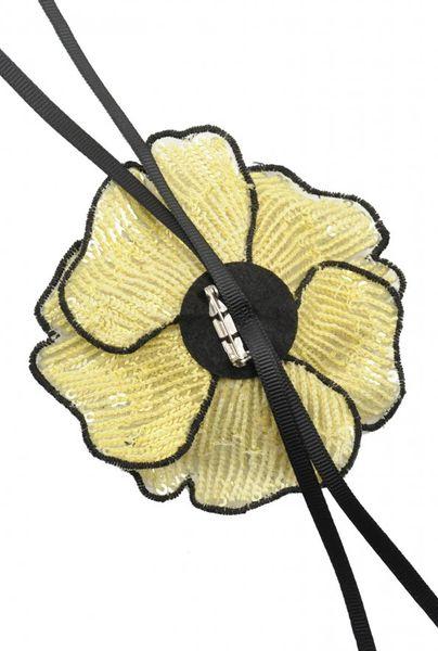 Broche flor PINKO lentejuelas