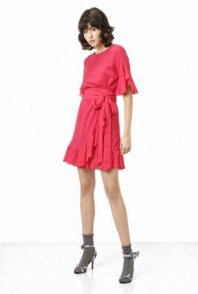 Vestido PINKO de micro crepé