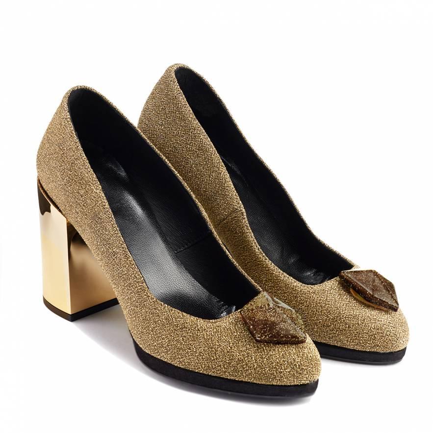 Zapato salón ANA PALLARÉS oro