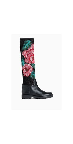 Bota TWIN-SET alta estampada flores