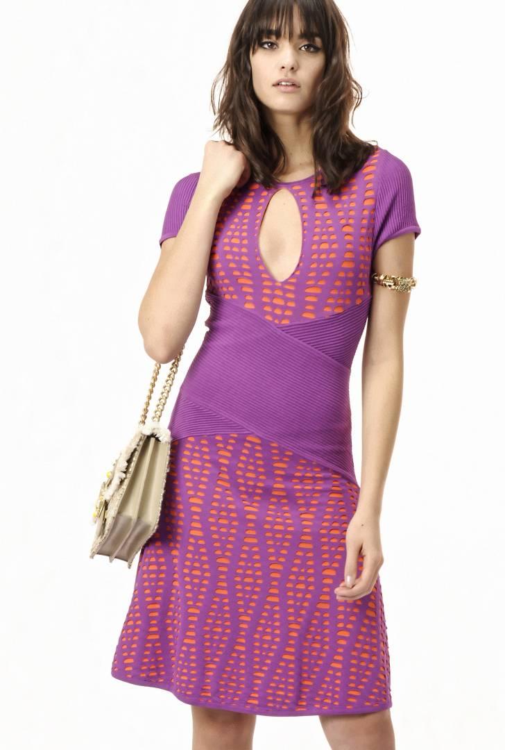 Vestido PINKO de tejido texturizado