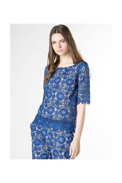 Camiseta PATRIZIA PEPE guipur azul