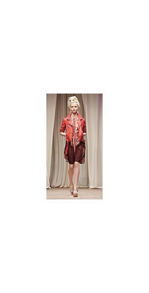 Vestido TWIN-SET estampado rojo raso