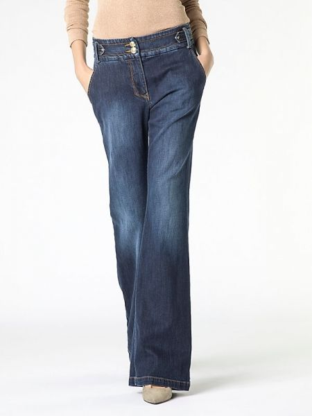Jeans vaqueros PATRIZIA PEPE campana + cinturon
